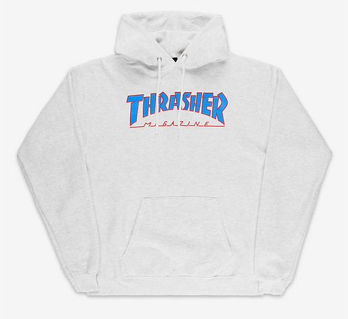 THRASHER OUTLINE LOGO - GREY