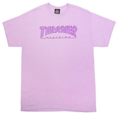 THRASHER OUTLINE T-SHIRT ORCHID
