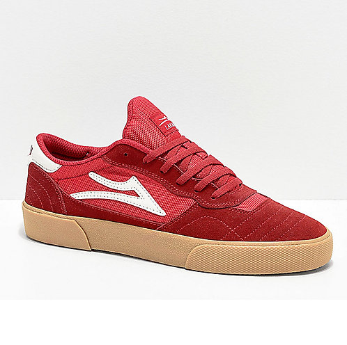 LAKAI CAMBRIDGE RED/GUM SUEDE