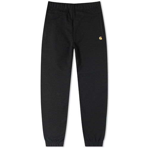 CARHARTT CHASE SWEAT PANT BLACK*