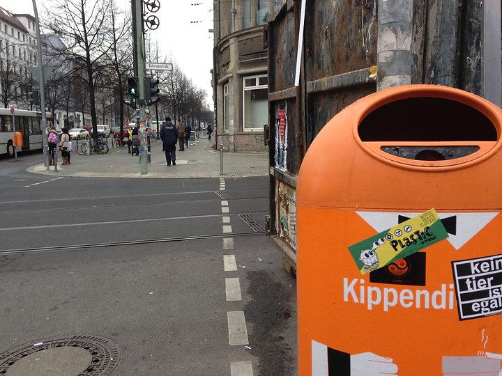 Sticker Plastic Bidone, Berlino
