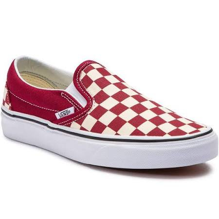 VANS CLASSIC SLIP ON CHECKERBOARD - RUMBA RED