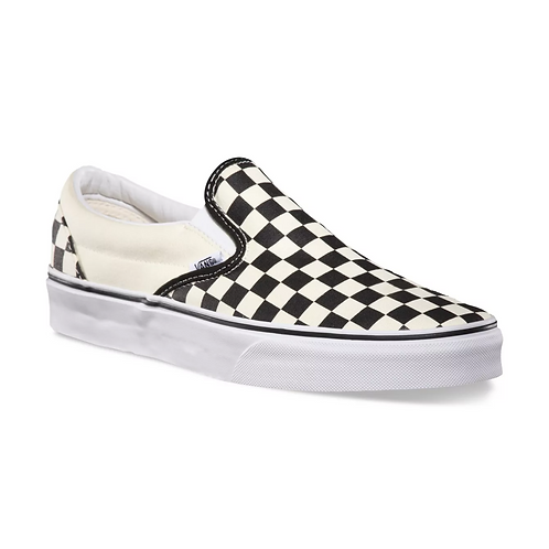 VANS CLASSIC SLIP ON CHECKERBOARD - BLACK AND WHITE
