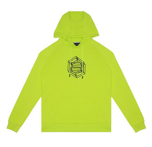 DOLLY NOIRE LOGO WIREFRAME HOODIE - ACID GREEN