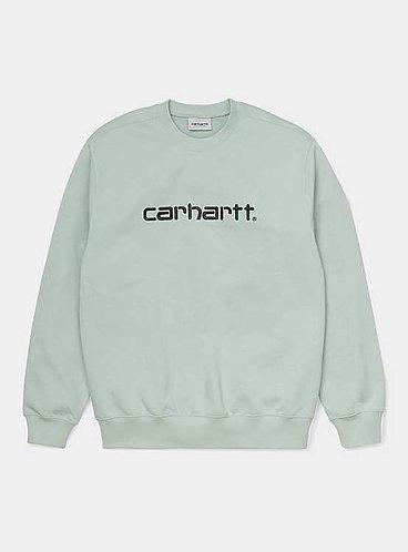 CARHARTT - SWEATSHIRT - FROSTED GREEN BLACK