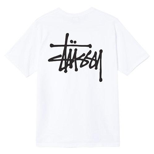 STUSSY BASIC T SHIRT - WHITE