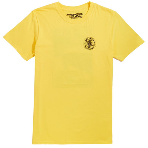 ANTIHERO FREEFORM T SHIRT - YELLOW/BLACK