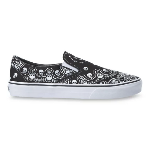 VANS SLIP-ON BANDANA BLACK/WHITE