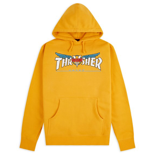 THRASHER VENTURE COLLAB HOODIE - GOLD