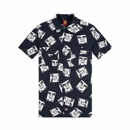 OBEY X DICKIES - OBY3 Black white