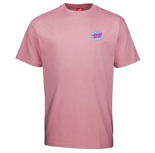 SANTA CRUZ CRYSTAL HAND T SHIRT - ROSE PINK