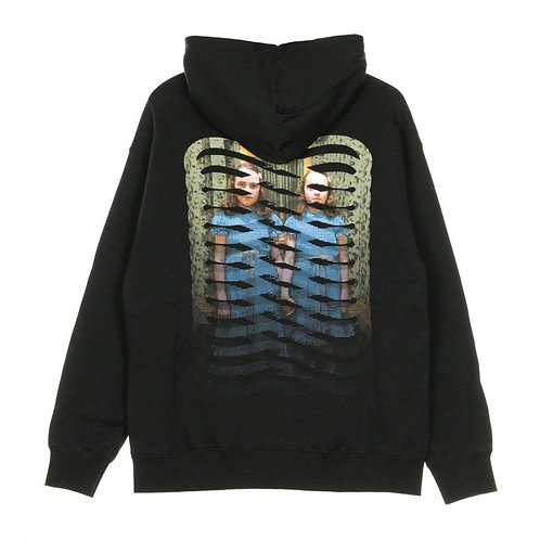 PROPAGANDA TWINS RIBS HOOD - BLACK