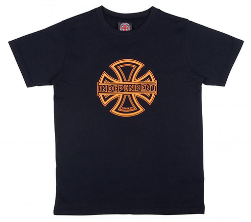 INDEPENDENT YOUTH CONVEX T SHIRT - BLACK