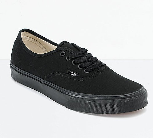 VANS AUTHENTIC BLACK/BLACK*