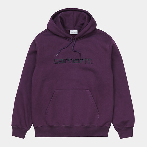 CARHARTT HOODED SCRIPT - BOYSENBERRY