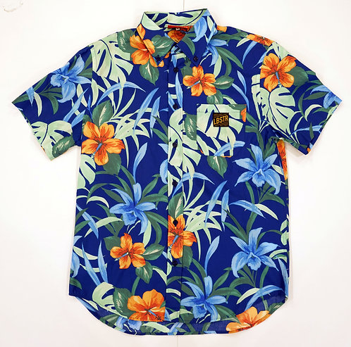 LOBSTER ALOHA SHIRT- BLUE