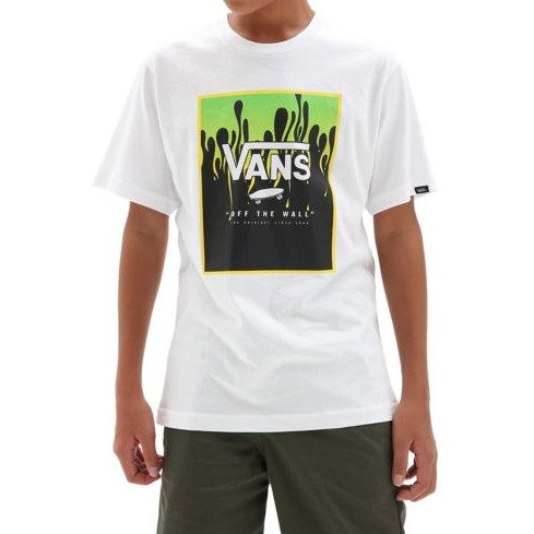 VANS PRINT BOX TEE BOY WHITE/SLI