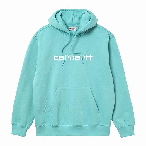 CARHARTT HOODED SWEAT - BONDI/WHITE