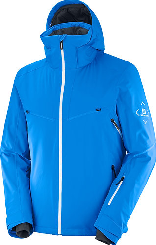 Salomon Brilliant Jacket Indigo Bunting/White