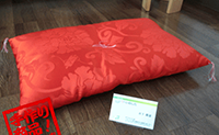 オンラインショッピングにて新商品「小座布団」を出品しました。
