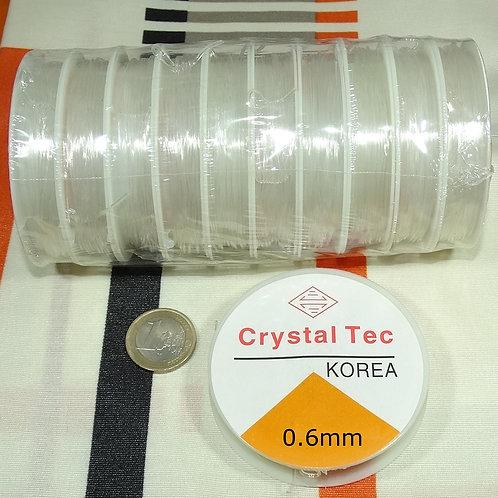10 Carretes Hilo de Silicona 0,6mm