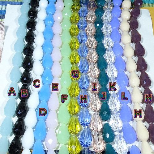 20 Cristales Gota / Lagrima 16x10mm