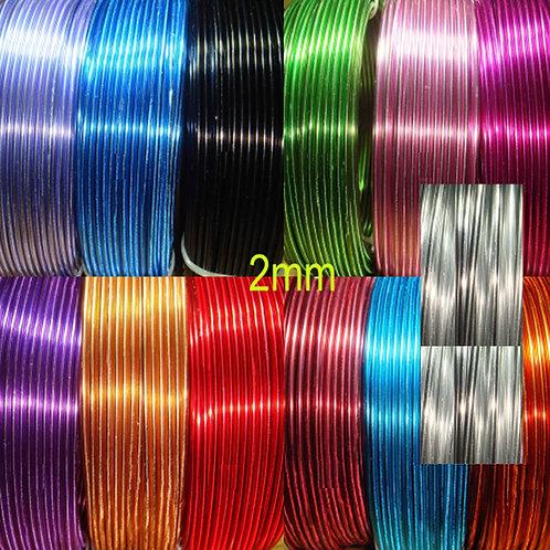 5 Rollos Alambre Aluminio 2mm 1 Metro por Color