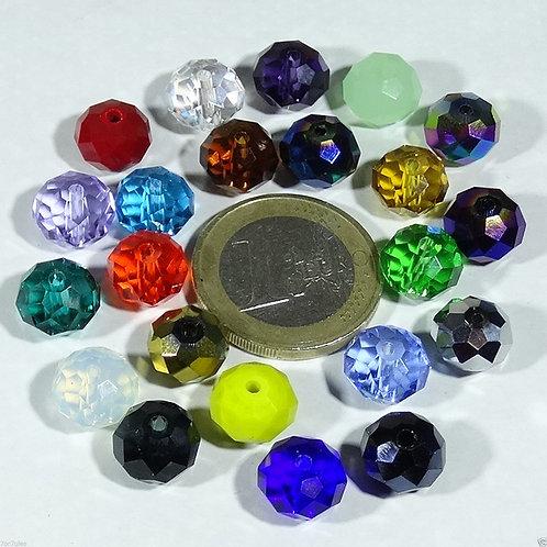 44 Cristales Facetados 10x8mm T68X