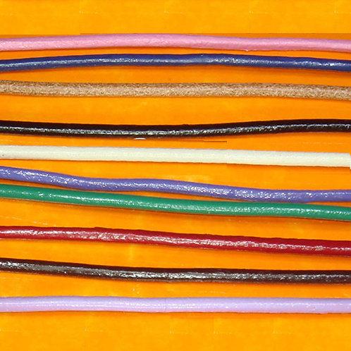 10 Metros Cuero Redondo 2mm - 1 Metro Por Color