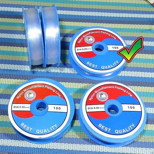 2 Carretes Hilo 0.25mm Transparente Especial Engarce H025