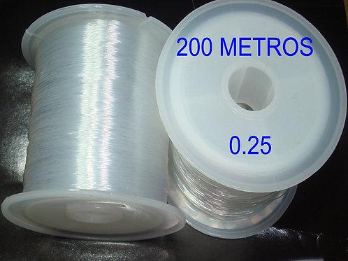 2 Carretes Hilo 0,25 Transparente Especial Engarce