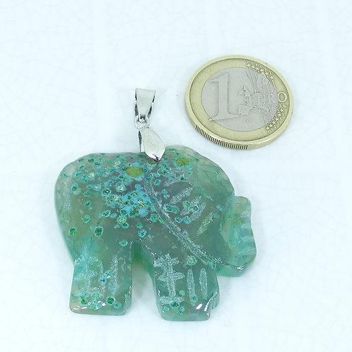 1 Colgante Elefante Jade 60mm M714C