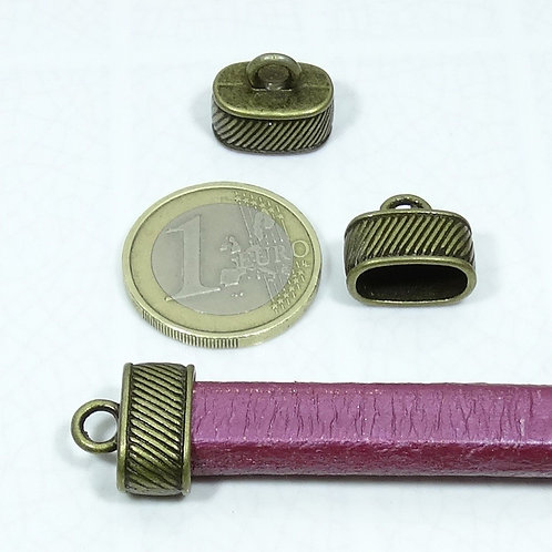 20 Terminales Para Cordón 15X13mm T380