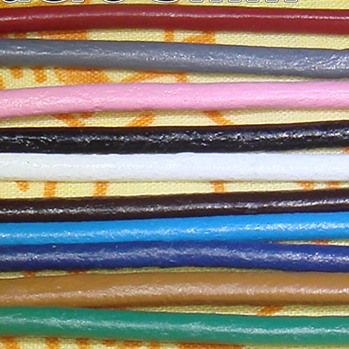 10 Metros Cuero Redondo 3mm - 1 Metro Por Color