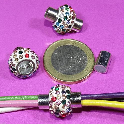 3 Cierres Magneticos Con Cristales 17x14mm T566