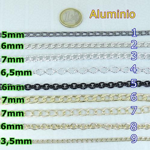 2  Metros Cadena de Aluminio A Elegir