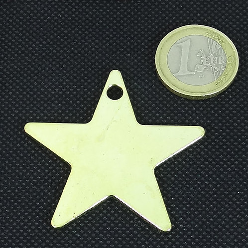 3 Colgantes Estrellas Doradas 47mm T522H