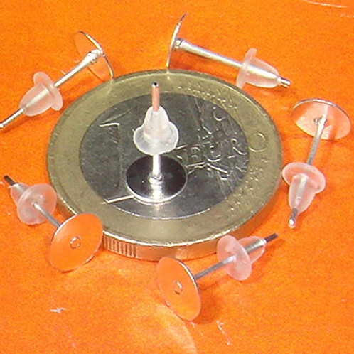 150 Pendientes base 12x6mm T374