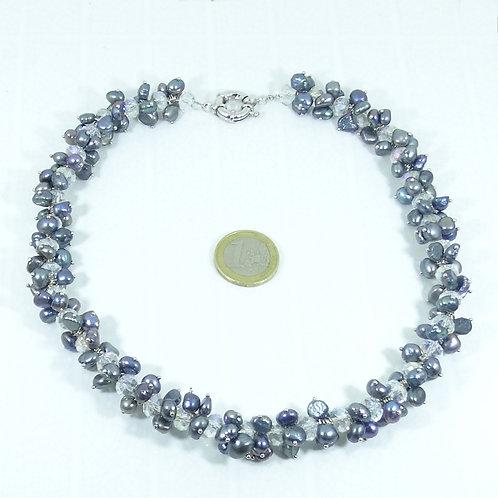Collar Perlas de Río (Cultivadas) 48 cm P003