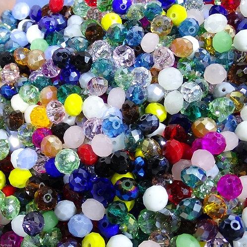 60 Abalorios 8x6mm Bolas de Cristal