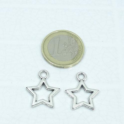 27 Colgantes Estrellas 21x17mm T602X