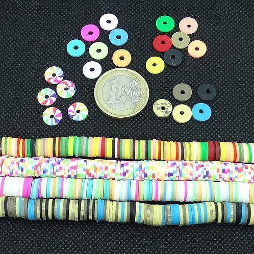 350 Abalorios Multicolor Fimo 8mm