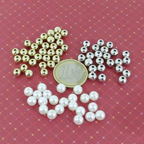 Lote De Perlas Acrilicas 5-6mm