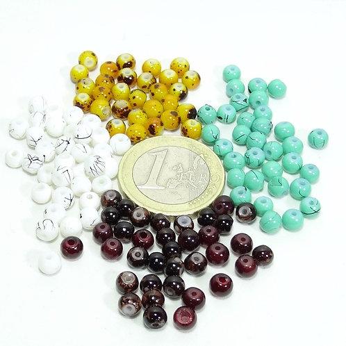 200 Abalorios Cristales Redondos 4mm