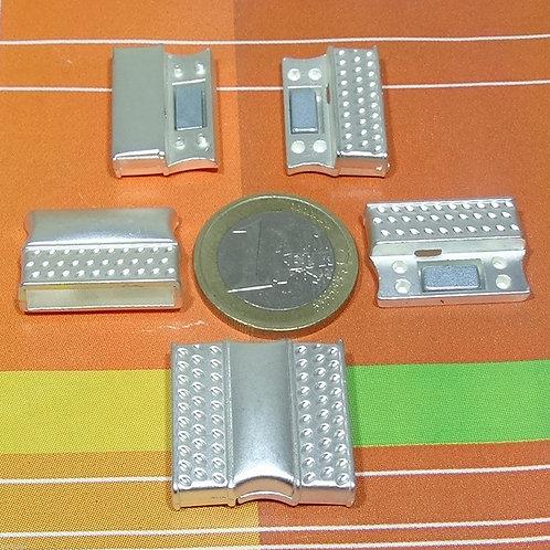 3 Cierres Para Cuero 23x22mm T167C