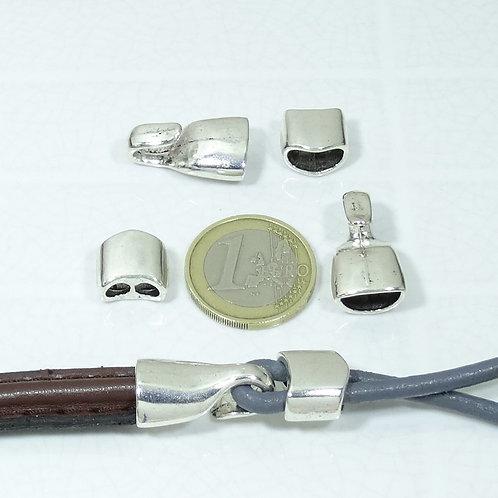 4 Cierres Para Cuero 33x13mm T111A