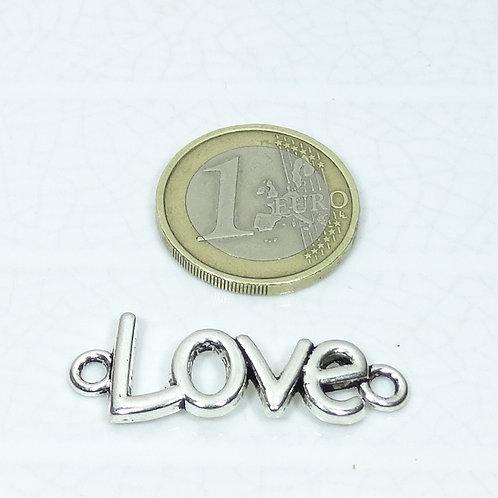 18 Abalorios Love 40x15mm T290C