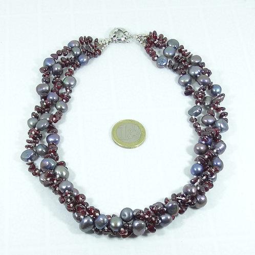 Collar Perlas de Río (Cultivadas) 48 cm P002