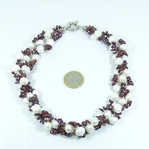 Collar Perlas de Río (Cultivadas) 48 cm P004