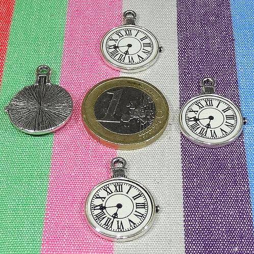 5 Colgantes Relojes 18mm T537